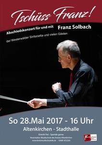 Plakat Konzert Franz Solbach