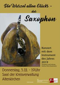 Plakat Saxophon Konzert des Jahres
