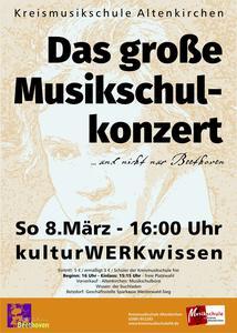 Plakat Musikschulkonzert 2020