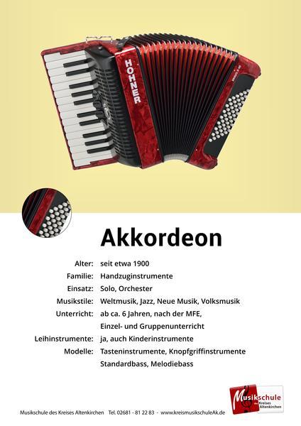 Instrumentenkarte Akkordeon