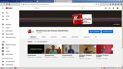 Externer Link: Screenshot Youtube Kanal