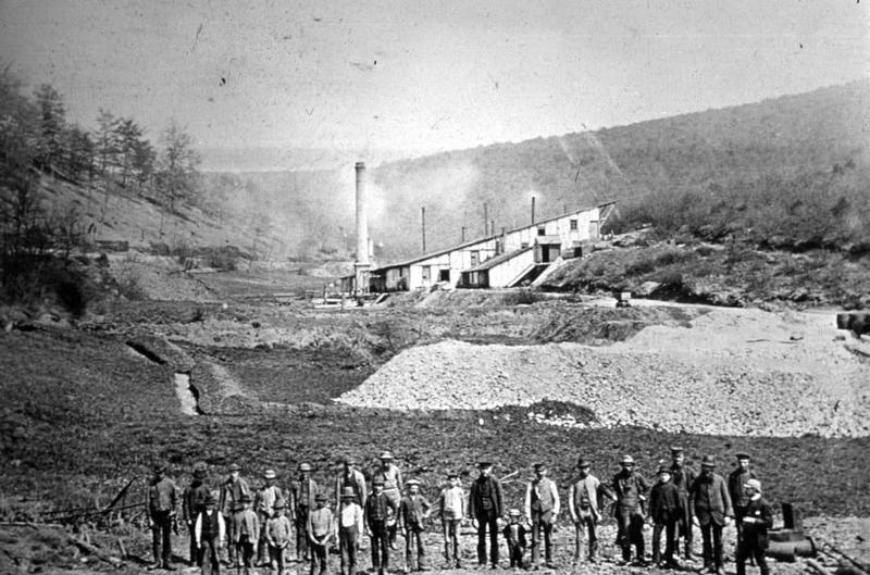 Kobaltaufbereitung im Kunster Tal um 1890