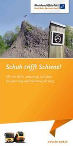 Schuh trifft Schiene - Wanderbroschuere Druidensteig 2014