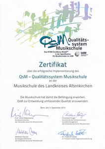 Urkunde QSM